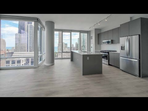A River North 1-bedroom WA6 at 23 West Apartments at One Chicago