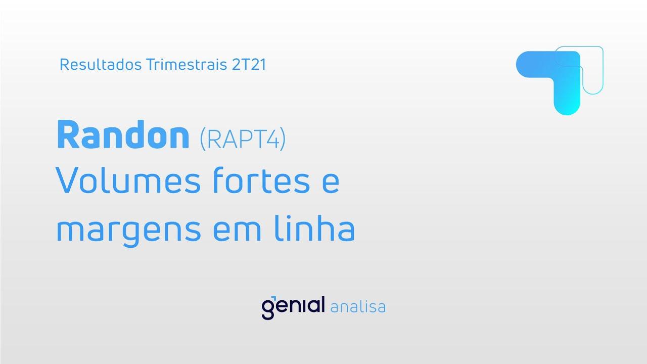 Thumbnail do vídeo: Resultado Trimestral 2T21: Randon (RAPT4)
