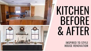 GALLEY KITCHEN REMODEL IDEAS + BEFORE AND AFTER