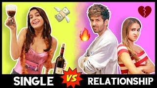 SINGLE VS. RELATIONSHIP😭   Ft. Kartik Aaryan, Sara Ali Khan   Love Aaj Kal   Anisha Dixit