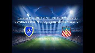 R.F.F.M - Jornada 19 - Preferente Infantil (Grupo 2): Juventud Sanse 2-3 A.D. Complutense Alcalá.
