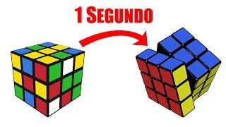 ¿CÓMO ARMAR un CUBO de RUBIK en 1 SEGUNDO?😱   Speedcuber Perú