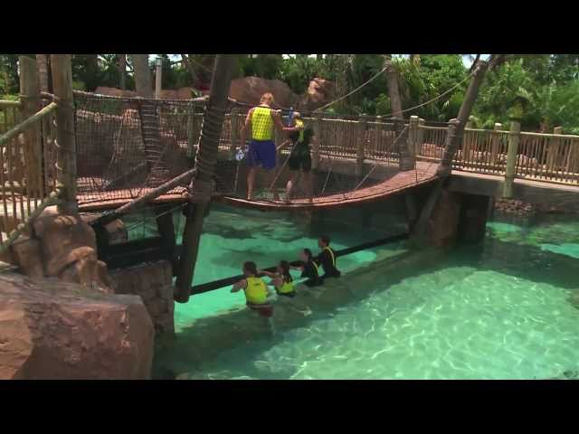 The Grand Reef at Discovery Cove offers snorkeling and helmet dive among sharks and rays