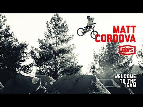 100% Welcomes Matt Cordova - Pro BMX rider