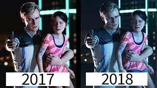 Detroit Become Human | Press Gameplay 2017 VS 2018 | Comparison
