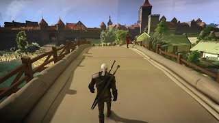 "The Witcher 3 ""MINECRAFT GRAPHICS MOD"" [HD]"