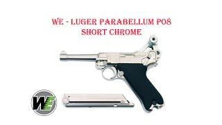 [ОБЗОР] WE - LUGER PARABELLUM P08 SHORT CHROME GBB airsoft (страйкбол)