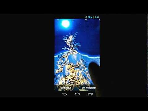 Video of Christmas Snow Live Wallpaper