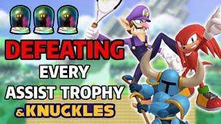 Battling & Defeating Every Assist Trophy in Super Smash Bros. Ultimate & Knuckles