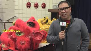 Mr.JiJi Oujo from Indonesia (parent) speaking to iAsianews at Central Junior High School, Euless.