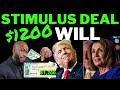 STIMULUS DEAL!! +$1200 Second Stimulus Check Update + Stimulus Package Unemployment Benefits