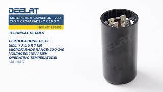 Motor Start Capacitor – 200 – 240 Microfarads - 7 x 3 6 x 7 - Deelat