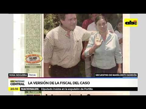Secuestro de María Edith Bordón: la versión de la fiscala del caso