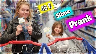 40 EUROS CHALLENGE! ON ACHÈTE TOUT POUR FAIRE DU SLIME! PRANK ! REVANCHE D'ELINA.