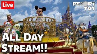 🔴Live: ALL DAY Magic Kingdom Live Stream - Celebrating 100K   Walt Disney World