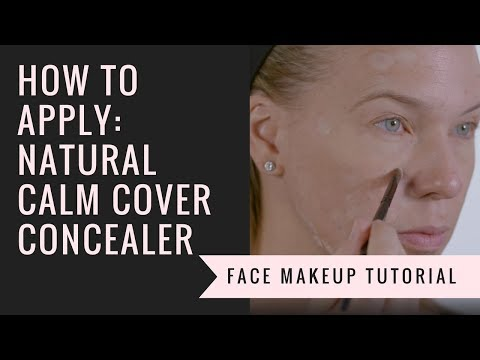 How to Apply our Natural Calm Cover Concealer | Afterglow Cosmetics