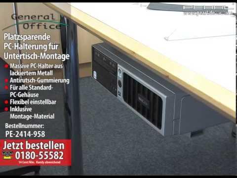 General Office Platzsparende PC-Halterung für Untertisch-Montage
