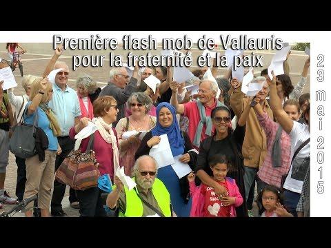 Première flash mob de Vallauris pour la fraternité et la paix