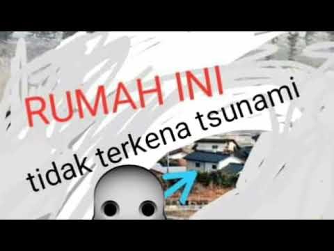 Rahasia ilahi rumah dekat pantai tidak terkrna tsunami
