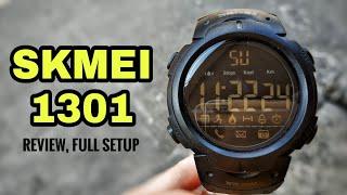 SKMEI 1301 SMARTWATCH REVIEW, FULL SETUP (INDONESIA)