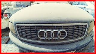 Abandoned cars in Dubai. Abandoned Audi S8.