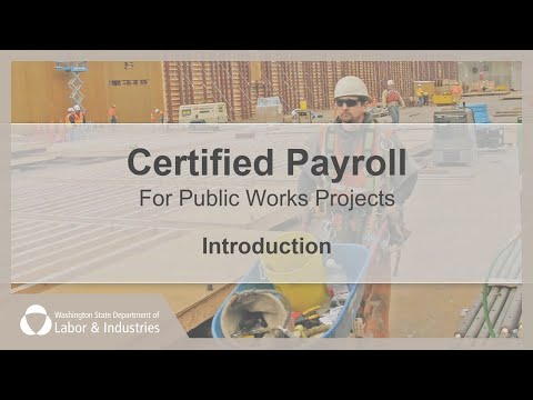 Introduction to Certified Payroll - YouTube