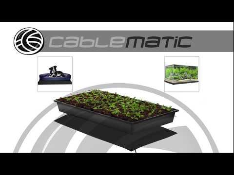 Alfombra térmica calefactora para plantas semillero - distribuido por CABLEMATIC ®