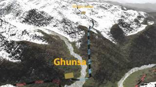 preview picture of video 'From Ghunsa to Sukitar'