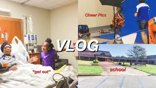 VLOG: 24 Hours In The Hospital + Tiana Takes Cheer Pictures + I Finally Signed Up For College 😬