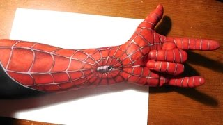 Painting A Spiderman Half Sleeve On My Arm