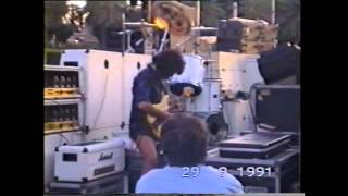 Ritchie Blackmore checking out some new effects- -September 29th 1991-Sea of Galilee