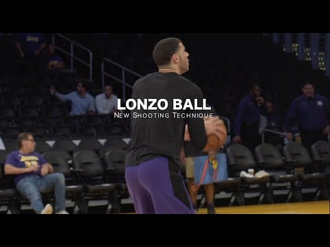 Lonzo Ball // Lakers // New Shooting Technique