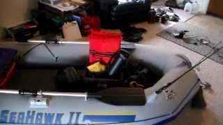 Intex seahawk ii 2 inflatable fishing boat