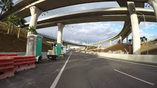 WESTCONNEX Tunnel drive through footage inc lights and signs