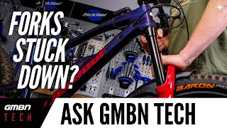 Why Are My Forks Stuck In Their Travel? | Ask GMBN Tech