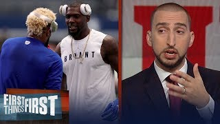 Nick Wright on ex-Cowboy Dez Bryant potentially joining OBJ on NY Giants | FIRST THINGS FIRST