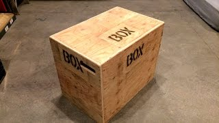 How To Build An Easy 3-in-1 CrossFit Jump Box With A Single Sheet Of Plywood Video