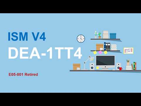 New ISM V4 DEA-1TT4 Dumps Replace E05-001 ISM V3 - YouTube