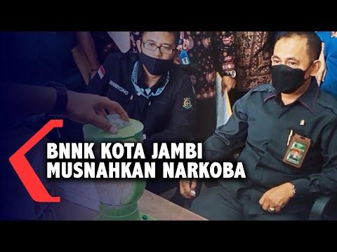 BNNK Kota Jambi Musnahkan Narkoba