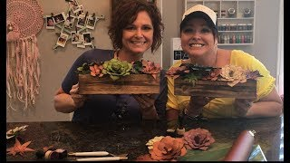 DIY Paper Succulent Boxes using the Cricut Explore Air 2