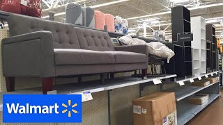 WALMART HOME FURNITURE SOFAS COUCHES FUTONS CHAIRS BEDS SHOP WITH ME SHOPPING STORE WALK THROUGH