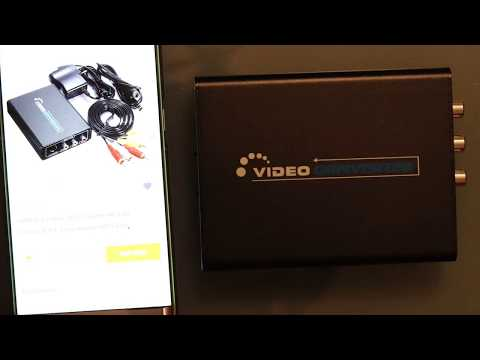 HDMI to S-Video CVBS Converter from Banggood