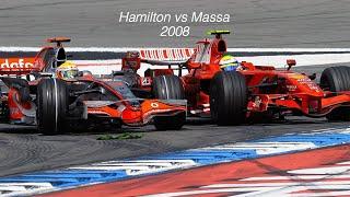 Lewis Hamilton vs Felipe Massa - 2008