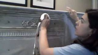 Waxing Furniture With Dark And Clear Wax Over Annie Sloan Chalk Paint