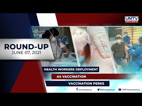 [UNTV]  UNTV NEWS ROUNDUP: Mga balitang dapat mong malaman (June 7, 2021)
