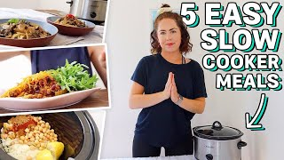 EASY SUMMER SLOW COOKER MEALS | Budget & Healthy