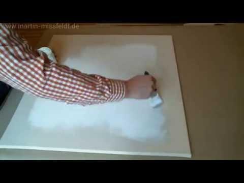 Eine Leinwand grundieren (Tutorial / Anleitung)
