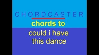 Chords To 'Could I Have This Dance' By Anne Murray At Chordcaster