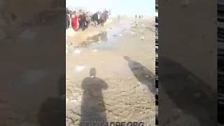 بالفيديو/مصرع طفل أحوازي في مياه الصرف الصحي!