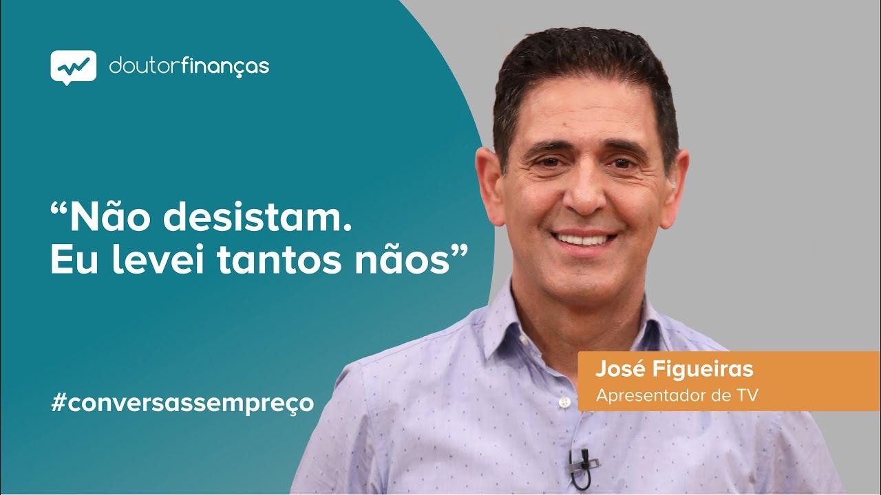 Imagem de um pc portátil onde se vê o programa Conversas sem Preço com a entrevista a José Figueiras, apresentador de TV